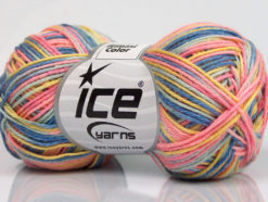 Lot of 8 Skeins Ice Yarns RIMINI COLOR Yarn Blue Shades Pink Yellow