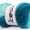 Lot of 4 x 100gr Skeins Ice Yarns ANGORA ACTIVE (25% Angora) Yarn Turquoise Shades