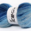 Lot of 4 x 100gr Skeins Ice Yarns ANGORA ACTIVE (25% Angora) Yarn Blue Shades
