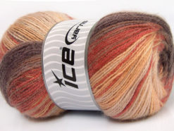 Lot of 4 x 100gr Skeins Ice Yarns ANGORA ACTIVE (25% Angora) Yarn Maroon Copper Cream Shades