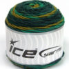 Lot of 3 x 100gr Skeins Ice Yarns CAKES BLUES Hand Knitting Yarn Green Shades