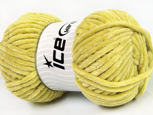 Lot of 4 x 100gr Skeins Ice Yarns CHENILLE BABY (100% MicroFiber) Yarn Apple Green