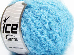 Lot of 8 Skeins Ice Yarns POLAR SOFT Hand Knitting Yarn Blue