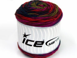 Lot of 3 x 100gr Skeins Ice Yarns CAKES BLUES Yarn Purple Red Fuchsia Green Burgundy