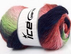 Lot of 4 x 100gr Skeins Ice Yarns LANA BELLA (30% Wool) Yarn Purple Red Pink Shades Green Shades