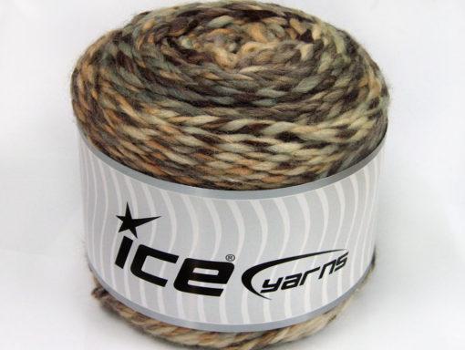 Lot of 2 x 200gr Skeins Ice Yarns CAKES WOOL CHUNKY COLORS (30% Wool) Yarn Brown Shades Grey