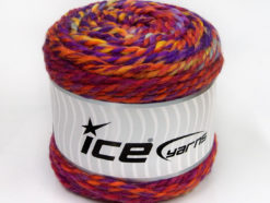 Lot of 2 x 200gr Skeins Ice Yarns CAKES WOOL CHUNKY COLORS (30% Wool) Yarn Purple Red Orange Yellow