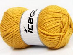 Lot of 4 x 100gr Skeins Ice Yarns WOOL BULKY GLITZ (25% Wool) Yarn Gold