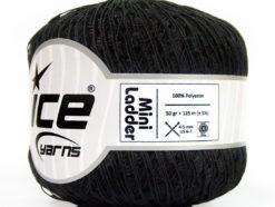 Lot of 6 Skeins Ice Yarns Trellis MINI LADDER Hand Knitting Yarn Black