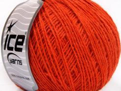 Lot of 8 Skeins Ice Yarns WOOL FINE (50% Wool) Hand Knitting Yarn Orange
