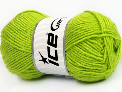 Lot of 8 Skeins Ice Yarns BABY WOOL (40% Wool) Hand Knitting Yarn Green
