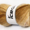 Lot of 4 x 100gr Skeins Ice Yarns MOHAIR ACTIVE (50% Mohair) Yarn Brown Shades Cream