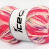 Lot of 4 x 100gr Skeins Ice Yarns BABY WOOL DESIGN (25% Wool) Yarn Pink White
