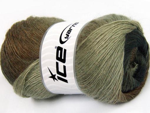 Lot of 4 x 100gr Skeins Ice Yarns ALPACA ACTIVE (20% Alpaca 20% Wool) Yarn Brown Shades Anthracite