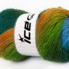 Lot of 4 x 100gr Skeins Ice Yarns ALPACA ACTIVE (20% Alpaca 20% Wool) Yarn Turquoise Blue Green Shades Gold