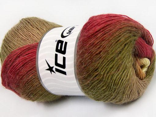 Lot of 4 x 100gr Skeins Ice Yarns ALPACA ACTIVE (20% Alpaca 20% Wool) Yarn Burgundy Green Brown Shades Cream