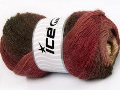 Lot of 4 x 100gr Skeins Ice Yarns ALPACA ACTIVE (20% Alpaca 20% Wool) Yarn Brown Shades Burgundy