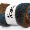 Lot of 4 x 100gr Skeins Ice Yarns ALPACA ACTIVE (20% Alpaca 20% Wool) Yarn Blue Shades Brown Shades