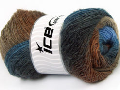 Lot of 4 x 100gr Skeins Ice Yarns ALPACA ACTIVE (20% Alpaca 20% Wool) Yarn Blue Shades Brown Shades