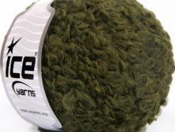 Lot of 8 Skeins Ice Yarns PAPERINO BOUCLE (9% Wool) Hand Knitting Yarn Khaki