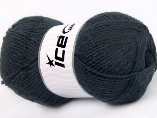Lot of 4 x 100gr Skeins Ice Yarns FAVOURITE WOOL (50% Wool) Yarn Anthracite Black