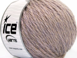 Lot of 3 x 100gr Skeins Ice Yarns SUPERBULKY WOOL (40% Wool) Yarn Lilac Melange