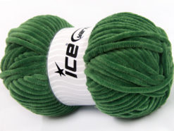 Lot of 4 x 100gr Skeins Ice Yarns CHENILLE BABY (100% MicroFiber) Yarn Jungle Green
