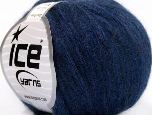 Lot of 8 Skeins Ice Yarns WOOL SOFTAIR (30% Wool) Yarn Purple Melange