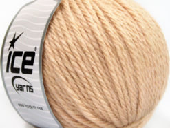 Lot of 3 x 100gr Skeins Ice Yarns SUPERBULKY WOOL (40% Wool) Yarn Cafe Latte
