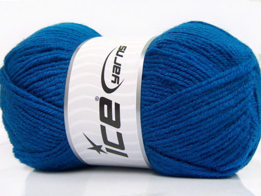 Lot of 4 x 100gr Skeins Ice Yarns FAVOURITE WOOL (50% Wool) Yarn Blue