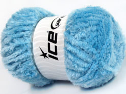Lot of 4 x 100gr Skeins Ice Yarns PANDA (100% MicroFiber) Yarn Baby Blue
