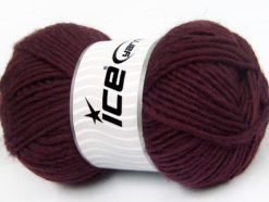 Lot of 4 x 100gr Skeins Ice Yarns FELTING WOOL (100% Wool) Yarn Maroon