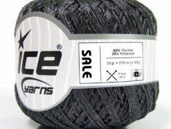 Lot of 6 Skeins Ice Yarns SALE SUMMER (80% Viscose) Yarn Dark Grey