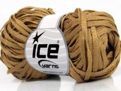 Lot of 8 Skeins Ice Yarns VISCOSE SHINE BULKY (82% Viscose) Yarn Light Brown