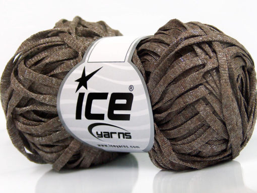Lot of 8 Skeins Ice Yarns VISCOSE SHINE BULKY (82% Viscose) Yarn Camel Melange