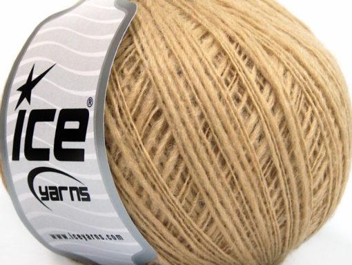 Lot of 8 Skeins Ice Yarns FLAMME WOOL FINE (50% Wool) Yarn Cafe Latte