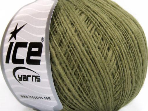Lot of 8 Skeins Ice Yarns FLAMME WOOL FINE (50% Wool) Yarn Light Khaki