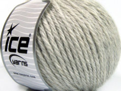 Lot of 3 x 100gr Skeins Ice Yarns SUPERBULKY WOOL (40% Wool) Yarn Light Grey