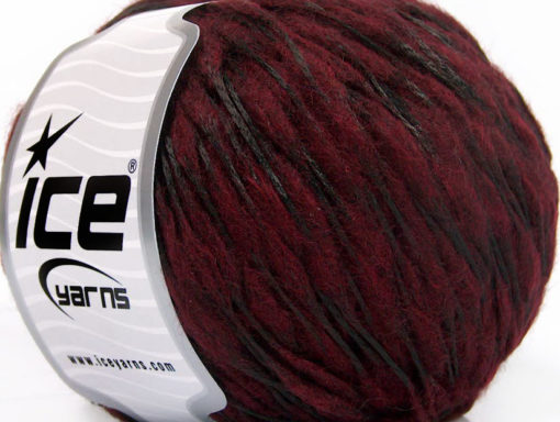 Lot of 8 Skeins Ice Yarns WOOL DROPS (50% Wool) Hand Knitting Yarn Burgundy