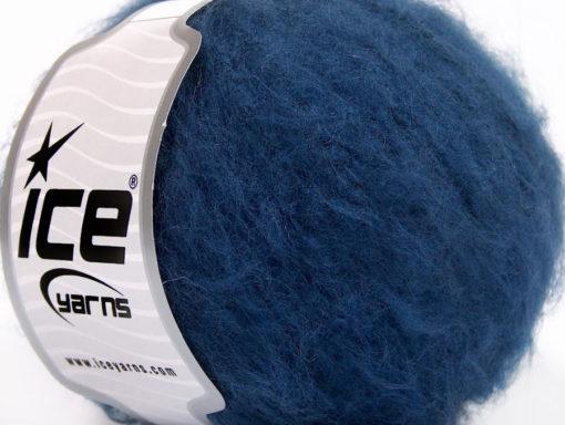 Lot of 8 Skeins Ice Yarns PIUMOTTO MOHAIR (20% Mohair 10% Wool) Yarn Dark Navy