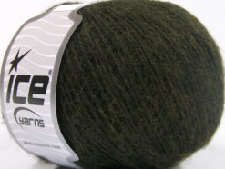 Lot of 8 Skeins Ice Yarns PHILIP ALPACA FINE (15% Alpaca 15% Wool) Yarn Dark Khaki