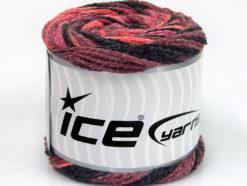 Lot of 2 x 150gr Skeins Ice Yarns CAKES AIR Yarn Maroon Salmon Black