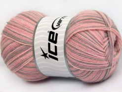 Lot of 4 x 100gr Skeins Ice Yarns MAGIC SOCK (75% Superwash Wool) Yarn Pink Shades Light Camel