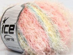 Lot of 8 Skeins Ice Yarns MODENA VISCOSE (40% Viscose 30% Wool) Yarn Pink Shades Baby Blue Light Yellow