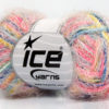 Lot of 8 Skeins Ice Yarns CYCLAMEN Yarn Pink Shades Blue Shades Yellow White