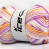 Lot of 4 x 100gr Skeins Ice Yarns FAVORITE BABY Yarn Lilac Shades Light Orange White