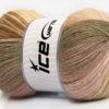 Lot of 4 x 100gr Skeins Ice Yarns ANGORA BATIK (20% Angora 20% Wool) Yarn Camel Pink Brown Shades