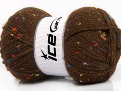Lot of 4 x 100gr Skeins Ice Yarns FAVORITE TWEED (5% Viscose) Yarn Brown Rainbow