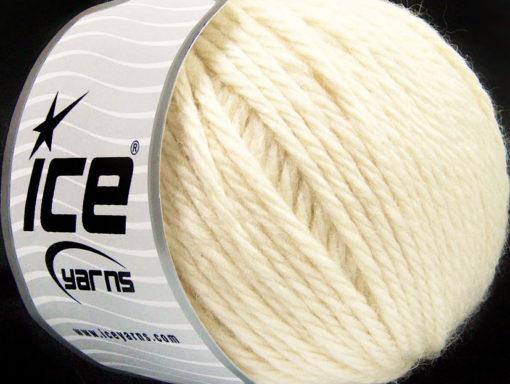 Lot of 3 x 100gr Skeins Ice Yarns SUPERBULKY WOOL (40% Wool) Yarn Dark Cream