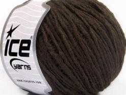 Lot of 8 Skeins Ice Yarns WOOL CORD ARAN (50% Wool) Yarn Coffee Brown